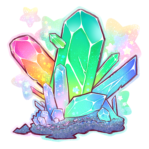 Elemental changing crystal